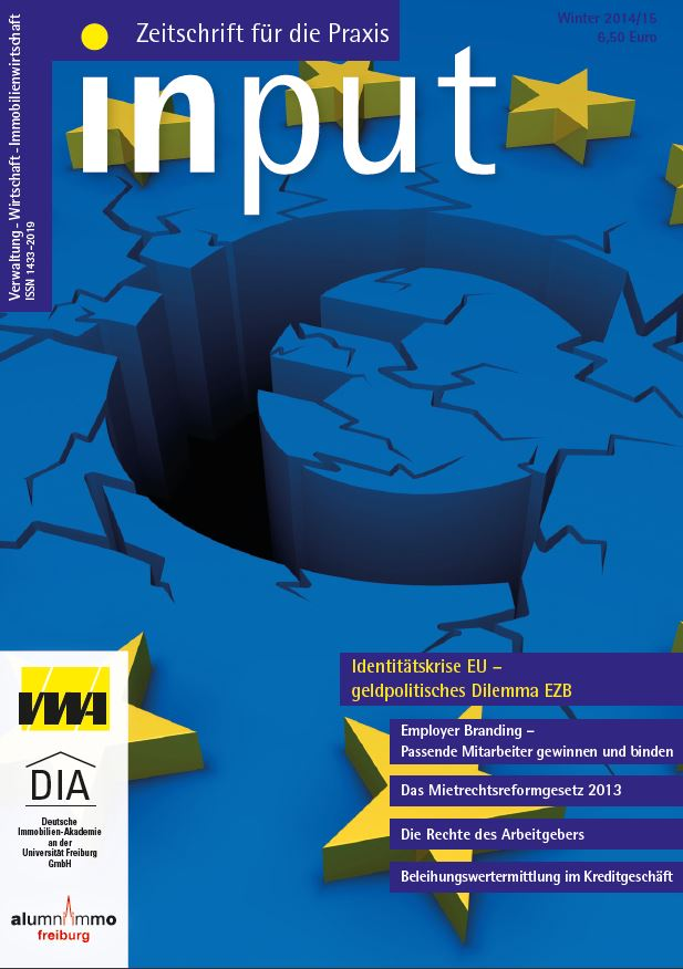 Wirtschaftszeitschrift Input Ausgabe Winter 2014/2015